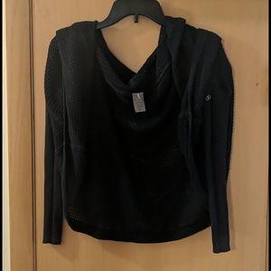 Calia Carrie Underwood Mesh Shawl Hooded Sweater